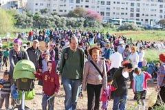 Grande inauguração do parque do vale da gazela no Jerusalém Foto de Stock Royalty Free