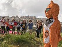 Grande inauguração do parque do vale da gazela no Jerusalém Imagem de Stock Royalty Free