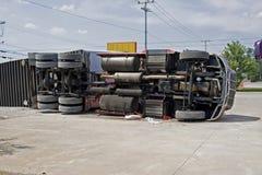 Grande incidente del camion Immagini Stock Libere da Diritti