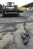 Grande industria del ferro con la corda Fotografia Stock