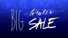 Grande inscription de lettrage de main de vente d'hiver photo stock