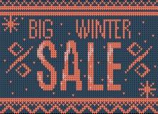 Grande insegna di vendita di inverno Immagine Stock Libera da Diritti