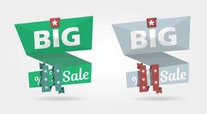 Grande insegna di vendita, modello dell'insegna di pubblicità di offerta speciale Immagini Stock