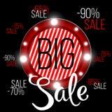Grande insegna di vendita, questo modello dell'insegna di pubblicità di offerta speciale di fine settimana, Fotografia Stock