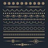 Grande insieme degli elementi calligrafici di progettazione di Natale illustrazione vettoriale