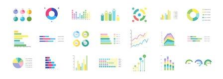 Grande insieme degli elementi di infographics Fotografia Stock