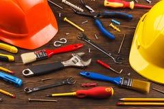 Grande insieme degli strumenti della costruzione Immagine Stock