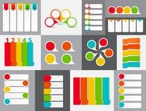 Grande insieme dei modelli dell'insegna di Infographic per il vostro Fotografia Stock Libera da Diritti