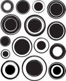 Grande insieme dei modelli neri solidi per i timbri di gomma illustrazione vettoriale