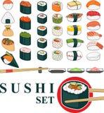 Grande insieme dei sushi Fotografia Stock