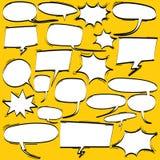 Grande insieme del fumetto, fumetti comici, nuvole vuote di dialogo nello schiocco Art Style Immagini Stock