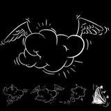 Grande insieme del fumetto, fumetti comici, nuvole vuote di dialogo nello schiocco Art Style Illustrazione di vettore per il libr illustrazione vettoriale