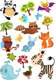 Grande insieme dell'animale royalty illustrazione gratis