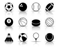 Grande insieme dell'icona della palla illustrazione vettoriale