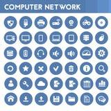 Grande insieme dell'icona delle reti di computer Immagine Stock