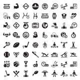 Grande insieme dell'icona di forma fisica Fotografie Stock