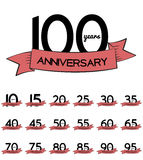 Grande insieme della raccolta del modello Logo Anniversary Vector Illustrat Immagini Stock
