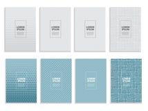 Grande insieme della raccolta di progettazione minima semplice del modello di affari delle coperture Modello geometrico futuro Il illustrazione di stock