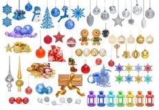 Grande insieme delle bagattelle di Natale per il Natale Immagine Stock