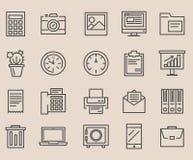 Grande insieme delle icone, ufficio illustrazione di stock