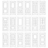 Grande insieme delle idee della porta Grande combinazione dell'insieme illustrazione vettoriale