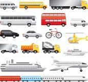 Grande insieme dettagliato di trasporto Fotografia Stock