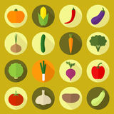 Grande insieme di verdure Fotografia Stock Libera da Diritti