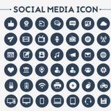 Grande insieme sociale dell'icona di media illustrazione vettoriale