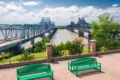 Grande inundação de 2011, rio Mississípi Foto de Stock