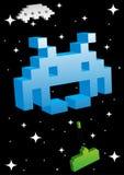 Grande invasore blu dello spazio Fotografie Stock