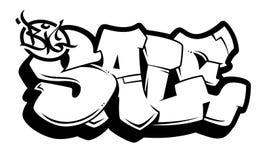 Grande iscrizione di vettore dei graffiti di vendita royalty illustrazione gratis