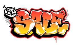 Grande iscrizione di vettore dei graffiti di vendita illustrazione di stock