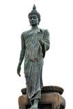 Grande isolato di immagine di Buddha su fondo bianco Fotografie Stock Libere da Diritti