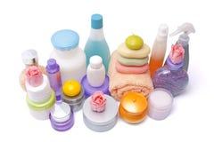 Grande jogo de vários cosméticos Fotografia de Stock