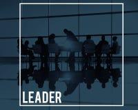 Grande líder Leadership Concept da reunião de negócios fotos de stock royalty free
