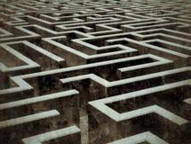 Grande labirinto Imagem de Stock
