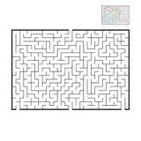 Grande labirinto rettangolare astratto Gioco per i bambini e gli adulti Puzzle per i bambini Trovi la giusta uscita Enigma del la royalty illustrazione gratis