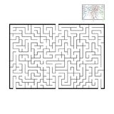 Grande labirinto rettangolare astratto Gioco per i bambini e gli adulti Puzzle per i bambini Trovi la giusta uscita Enigma del la illustrazione vettoriale
