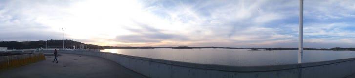 Grande lago di Alqueva Immagini Stock