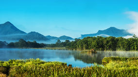 Grande lago nove fotografia stock