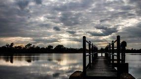 Grande lago nuvoloso immagine stock libera da diritti