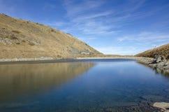 Grande lago Pelister - lago mountain - parco nazionale di Pelister vicino a Bitola, Macedonia fotografia stock libera da diritti