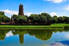A grande lagoa no templo de Praram Foto de Stock