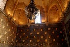Grande lampada nella moschea Fotografia Stock Libera da Diritti