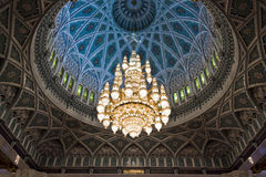 Grande lampadario a bracci della moschea Immagini Stock