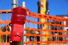 Grande lampe de signal des courses sur route et du bouteur Photos stock