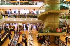 Grande libreria a Milano, Italia Fotografie Stock