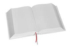 Grande libro bianco aperto Fotografia Stock Libera da Diritti