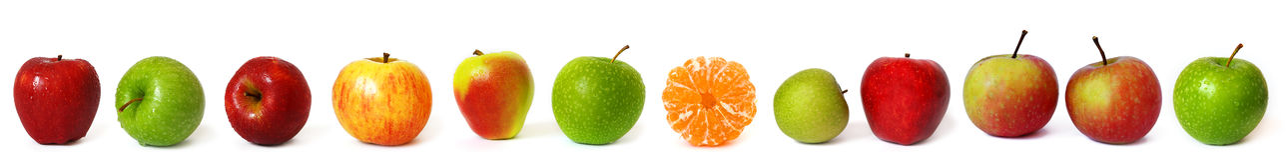 grande ligne de pommes Image stock