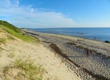 Grande linha costeira oca Truro norte Cape Cod da praia foto de stock